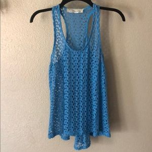 Vintage Havana crochet knit high low top size M
